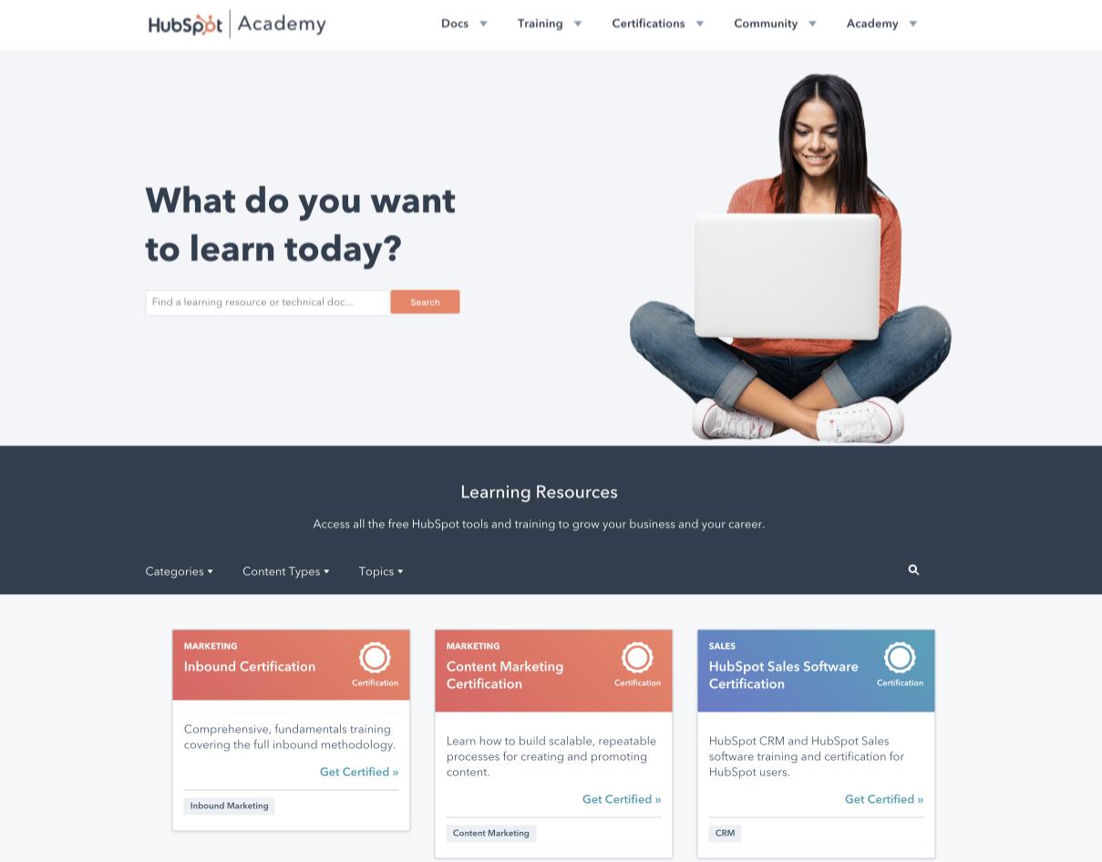 hubspot-academy-website-product